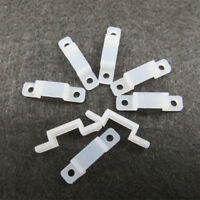 50X Silicone Mounting Bracket Clip Fastener for Fixing LED Strip Light 10mm M0G2