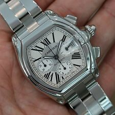 CARTIER Roadster XL Chronograph Stainless Steel Silver Dial W62019X6