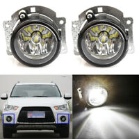 2X LED Front Bumper Fog Light Lamps For Mitsubishi Outlander ASX RVR 07-15 LH=RH