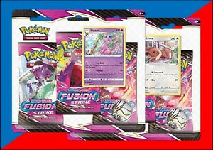 Pokémon - Sword & Shield 8 Fusion Strike - BOTH Three Packs Display - PREORDER
