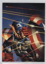 1995 Fleer Marvel Masterpieces #16 Captain America Non-Sports Card 0p3