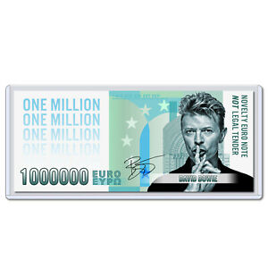 David Bowie Million Euro Note Music Starman Rock Collectible Money with Case
