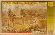 Zvezda 1/35 Soviet Medical Personnel WWII 1943-1945 Figures 3618