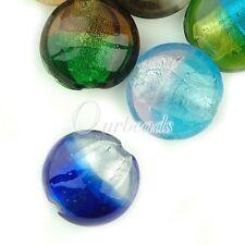 10x Assorted Colour Lampwork Glass Beads Handmade Jewellery Craft OBSLS8020