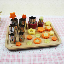 Set of 8pcs Flower Shape Rice Cookie Cake Vegetable Fruit Cutter Mold DIY OS