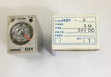 Nuevo Omron h3y-4 Temporizador 24v Dc tiempo: 3m h3y4dc243m