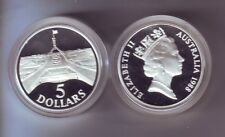 1988 SILVER Proof $5 Australia Parliament House Coin out Masterpieces Set *
