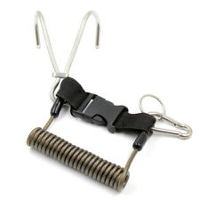 New listing 1X(Scuba Reef Stainless SteelHook Double Diving Reef Hook with Spiral Coil N3F9