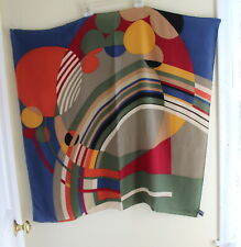 "ART Designer Wear Frank Lloyd Wright 34"" Square Silk MoMA Scarf FINE"
