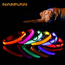 2019 Adjuatable LED Dog Cat Pet Collar Night Safety Bright Flashing Necklace Hot