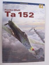 Kagero Book: Focke-Wulf Ta 152 C-1/H-0/H-1 models - 31 Drawings 4 Color Profiles