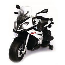 IDEA REGALO MOTO MOTOCICLETTA PER BAMBINI ELETTRICA BIANCA MODELLO BMW XR