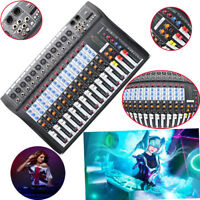 CT-120S 12 Channel Professional Live Studio Audio Mixer Power USB Mixing Console
