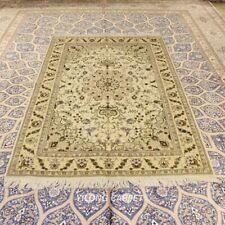 Clearance! Yilong 4'x6' Beige Handmade Wool Rug Living Room Woollen Carpet 2077