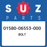 01580-06553-000 Suzuki Bolt 0158006553000, New Genuine OEM Part