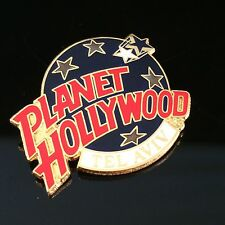 PLANET HOLLYWOOD TEL AVIV METAL LOGO PIN - BLUE RED EARTH STAR WORLD MIDDLE EAST