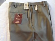 Haggar Men's Heritage Classic Fit Flat Dress Pants NWT Size- (34 x 30) Brown