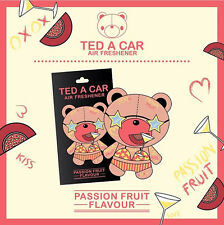 TED A CAR Passion Fruit Scented Car & Home Air Freshener Teddy Bear TEDACAR