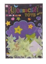 GLOW IN THE DARK Fluorescent STARS Kids Bedroom Baby Nursery Decor Gift