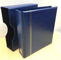 VST 50mm 4D Ring Binder & Slip Case Cover Gold Embossing  (BLUE)