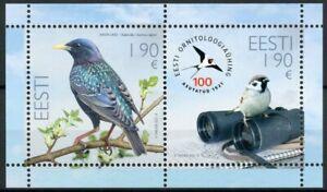 Estonia Birds on Stamps 2021 MNH Estonian Ornothological Society Sparrows 2v M/S