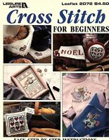 Leisure Arts Cross Stitch for Beginners -Full Color Counted Cross Stitch Pattern