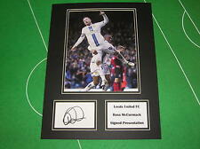 Ross McCormack Signed Leeds United FC Press Photograph Presentation Mount