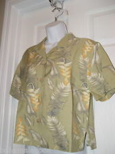 "NEW NWT LADIES TOMMY BAHAMA ""LOBSTER LINE DANCE"" SILK CAMP SHIRT XS"
