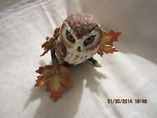 Lenox Saw Whet Owl Bird Figurine - Mint Condition