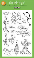 "HERO ARTS CLEAR DESIGN ""HAND DRAWN CHRISTMAS""  STAMPS"