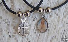 SMALL ~ OVAL ~  LADY_PRAYING ~  PENDANT ~ NECKLACE -- (GREAT_CHRISTMAS_GIFT)