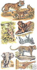 Safari Animals Wall Transfer Decal Art Wall Decor Creative Wall Art Tatouage