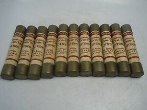 Lot of 11 Shawmut One-Time OTS60 Fuse