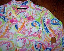 NWT Ralph Lauren Pink/Green WATERCOLOR PAISLEY Sleep Shirt Nightgown Gown S $59