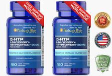2 X Puritan's Pride 5-HTP 100 mg (Griffonia Simplicifolia) - 120 Capsules