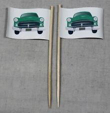 Party-Picker Auto Oldtimer 50 Stk. Dekopicker Papierfähnchen Flagge Food