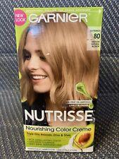 Garnier Nutrisse Permanent Hair Color Butternut Med Natural Blonde #80 Free Ship