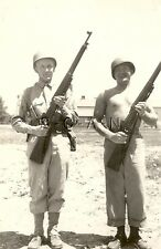 WWII Org Large Army RP- Semi Nude- Two Soldiers- Kit- Helmet- Hold 1903A3 Rifle