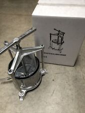 Aluminum And Stainless Steel Wine And Fruit Press. New