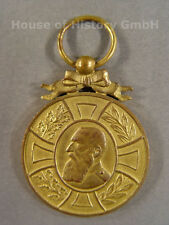 Belgien: Regenschafts Medaille König Leopold II. 1865-1905 , Goldbronze, 97162