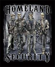 HOMELAND SECURITY SKELETON SOLDIERS BLACK TEE SHIRT SIZE L men women adult TT1
