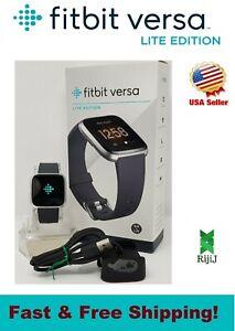 Fitbit Versa Lite Smart Watch Activity Tracker Black Silver Pink Lavender Blue