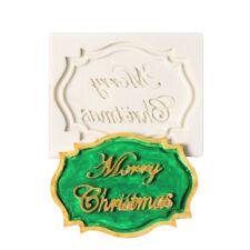 Merry Christmas Stamp Silicone Fondant Decorating Sugarcraft Baking Cake Mold