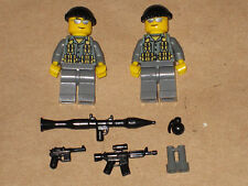 Lego 2 Minifig WW2 Modern Warfare Troopers with weapons