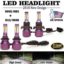 CREE LED H13 High Low Beam Headlight+ 9145 Fog Light Bulbs For Ford F250 F350