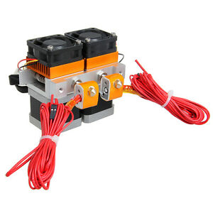 Geeetech Latest Dual Head MK8 dual Extruder 0.35mm Nozzle Makerbot 3D Printer