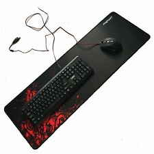 Extended Gaming Large Mouse Pad XXL 90x30cm Big Size Desk Mat Black& Red UK Ship