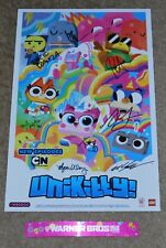 SDCC 2018 EXCLUSIVE WB CARTOON NETWORK LEGO UNIKITTY! SIGNED POSTER