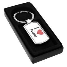 I Love Poland Metal Keyring 1520