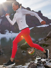 ATHLETA Rainier Tight In Plush SuperSonic L LARGE Red Workout Running